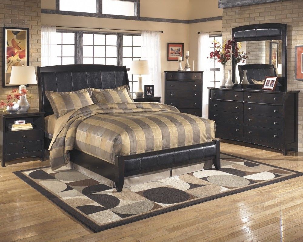 Harmony 6 Pcbedroom  Dresser Mirror Chest Queen Platform Bed Custom Ashley Bedroom Dressers Design Inspiration