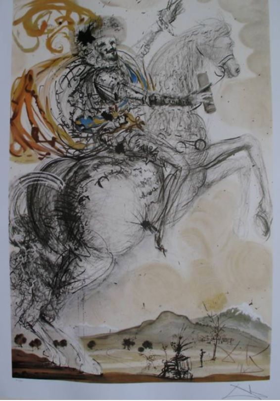 Masterpiece From Salvador #Dali: DON QUIXOTE Limited Edition Lithograph http://www.propertyroom.com/listing.aspx?l=9771525
