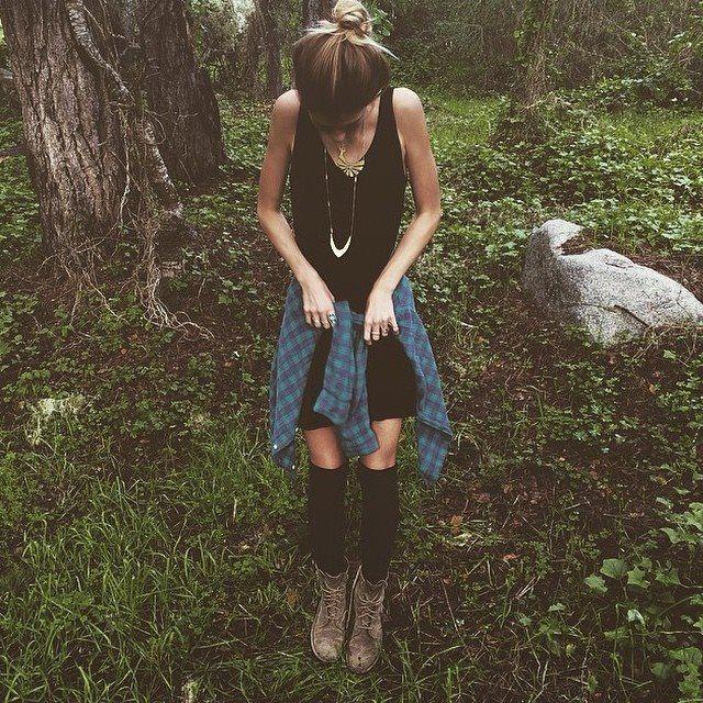 Black Outfit w/ Plaid * Socks * Jewelry