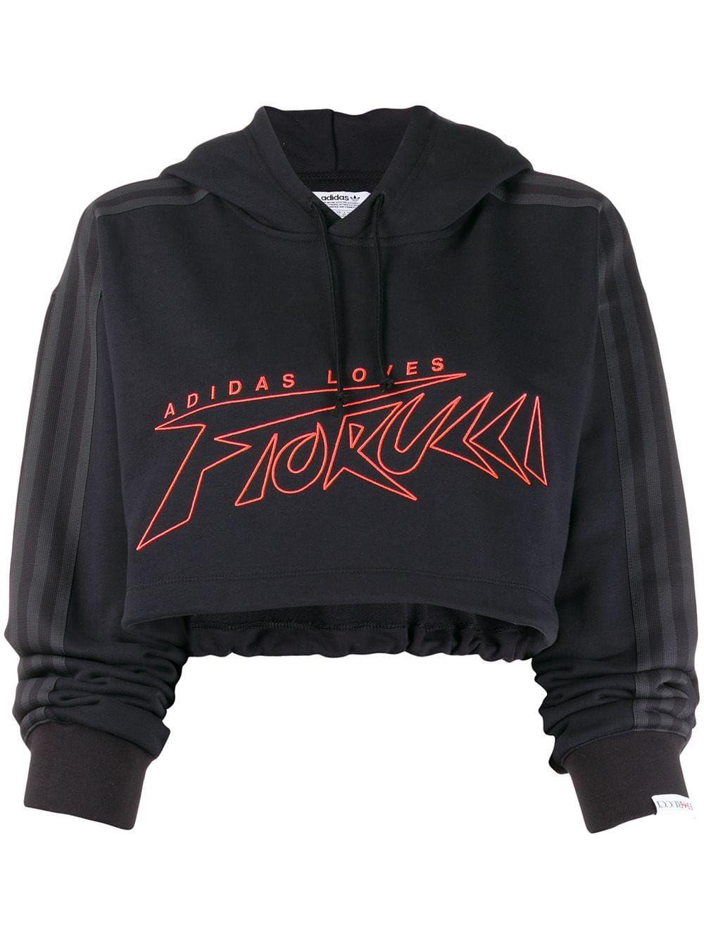 Predownload: Fiorucci X Adidas Cropped Sweatshirt Farfetch Adidas Crop Sweatshirts Fiorucci [ 1334 x 1000 Pixel ]