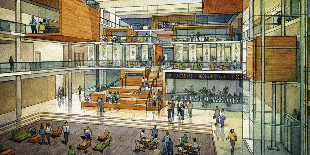 Baylor Proud New Foster Business Campus Designed With Community In Mind Campus Design Campus The Fosters