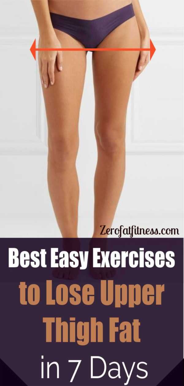 Easy Exercises to Lose Upper Thigh Fat in 7 Days -   18 fitness workouts thighs
