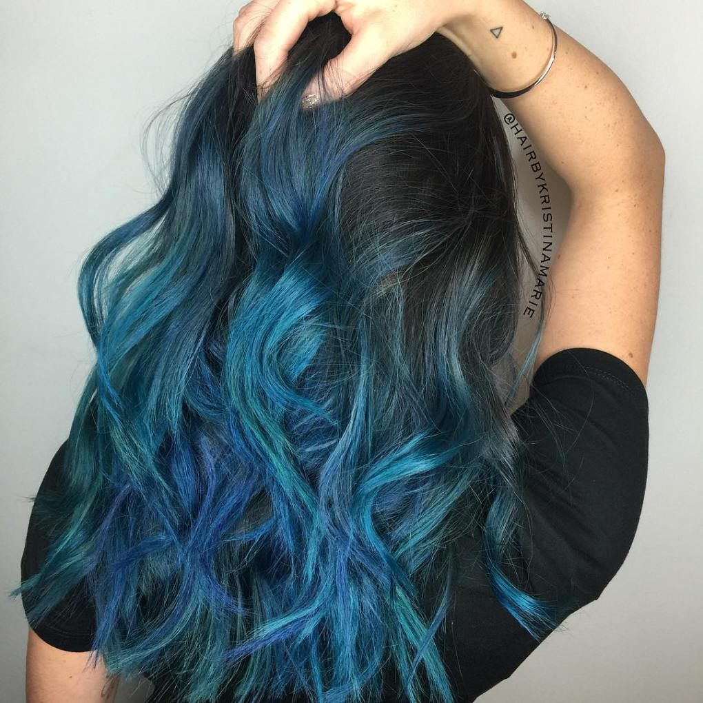 40 Fairy Like Blue Ombre Hairstyles Blue Hair Highlights Hair Styles Hair Highlights
