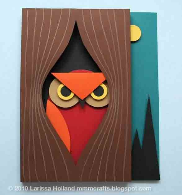 HowTo 3D Paper Owl Manualidades con cartulina Manualidades de