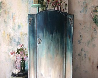 HAND PAINTED VINTAGE FURNITURE & ART by TheTurquoiseIris on Etsy