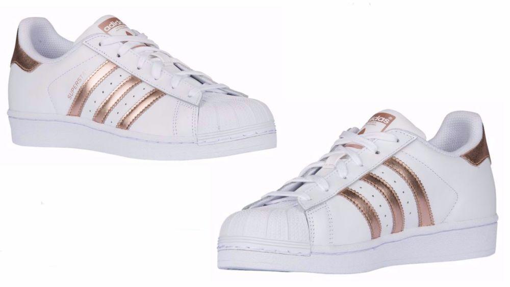 a23d2fabcda223 wo wo adidas originaux superstar rose blanche or ba   adidas 1f617f ...