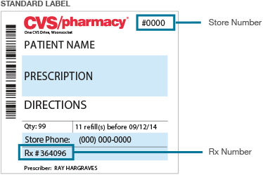 The Store Number Is At The Top Of The Prescription Label And