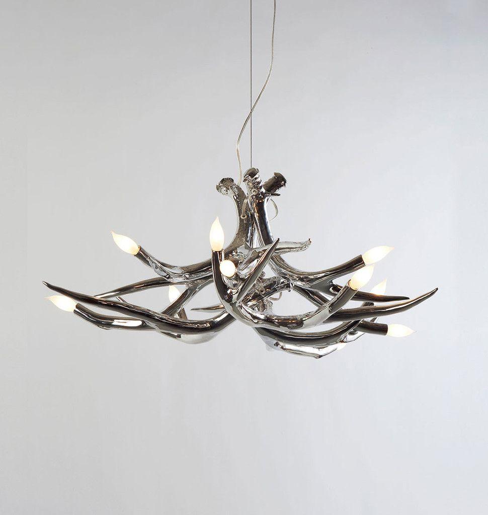 Superordinate antler chandelier 6 antlers chrome designed by lights superordinate antler chandelier arubaitofo Choice Image