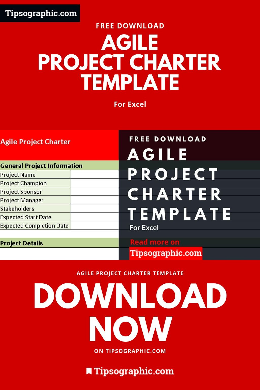 Agile Project Charter Template For Excel Free Download With
