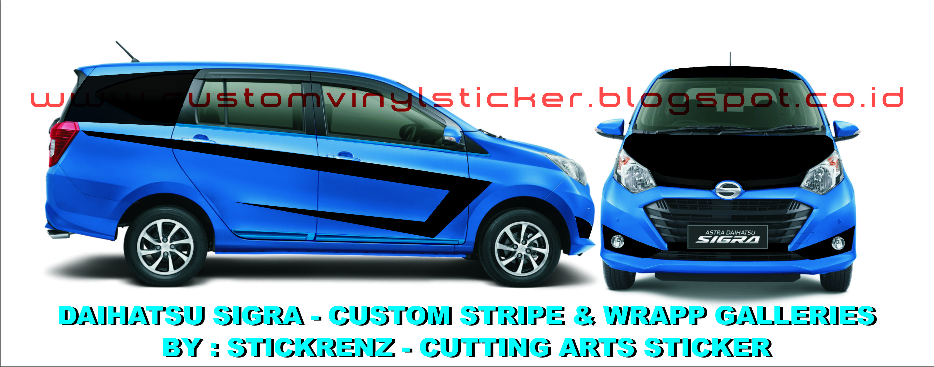 Daihatsu Sigra Custom Stripe Wrapp Concept Galleries 001