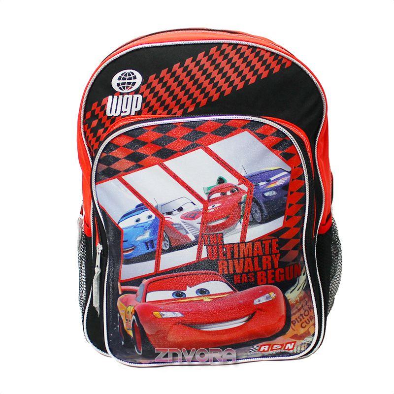 Disney Cars Lightning McQueen 16 Boys Backpack School Bag