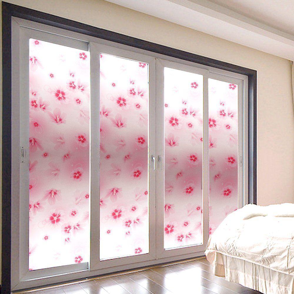 Amazon Co Jp Rabbitgoo ガラスフィルム 窓用フィルム 目隠し装飾