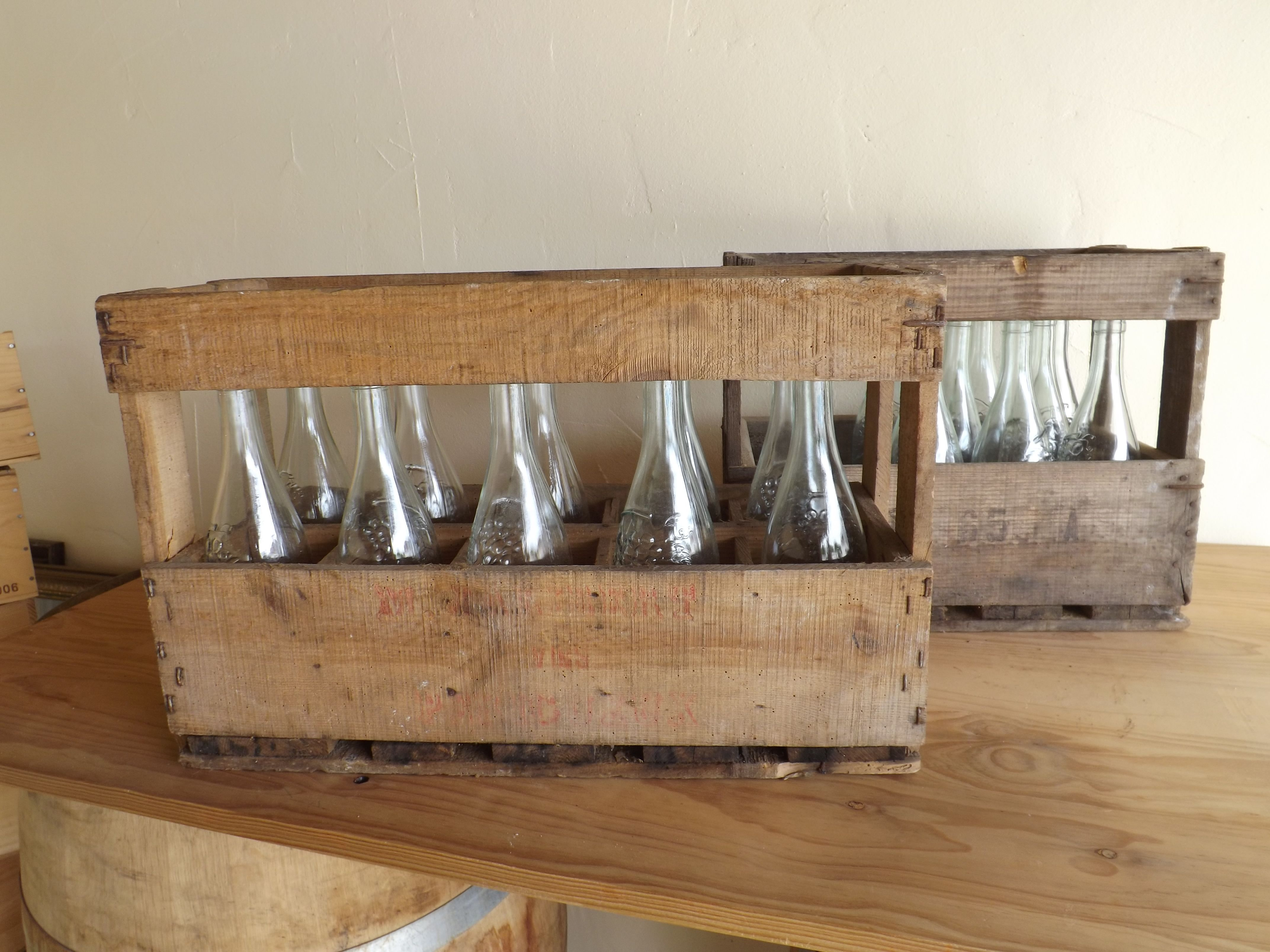 vintage wine crates