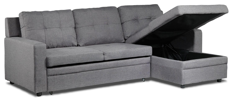 Bombay III Upholstery Sleeper Sofa W/Chaise - Leon's