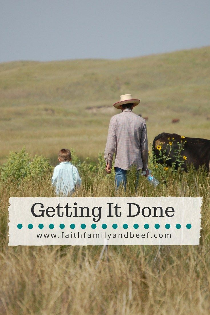 Getting It Done - raising beef and bringing up a family.