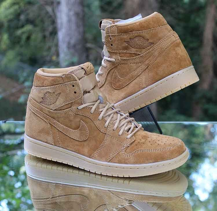 Nike Air Jordan 1 Retro High Og Wheat Golden Harvest 555088 710