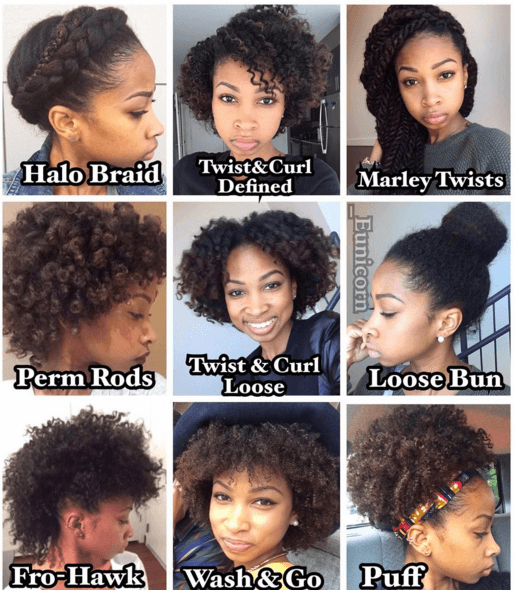 10 Simple Hairstyles for Natural Hair is part of Simple Hairstyles For Short Natural Hair Or Twa Naturall - Watch these 10 simple hairstyles for natural hair and how to create them in this quick tutorial!