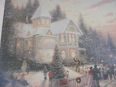 Thomas Kinkade Victorian Christmas Jigsaw Puzzle NEW 1000 pcs 24 X ...