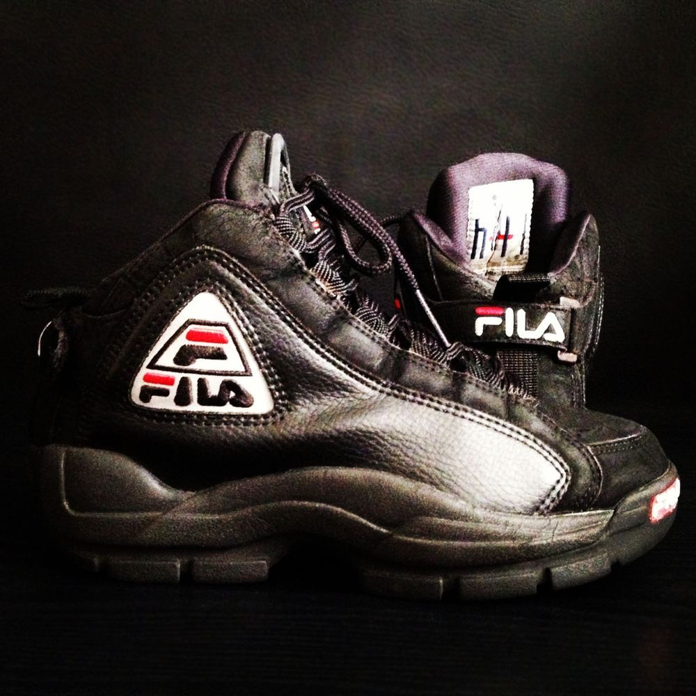 2edb1b9cea20  Vintage Black  Retro  Fila Grant Hill Mens  Basketball  Sneakers http