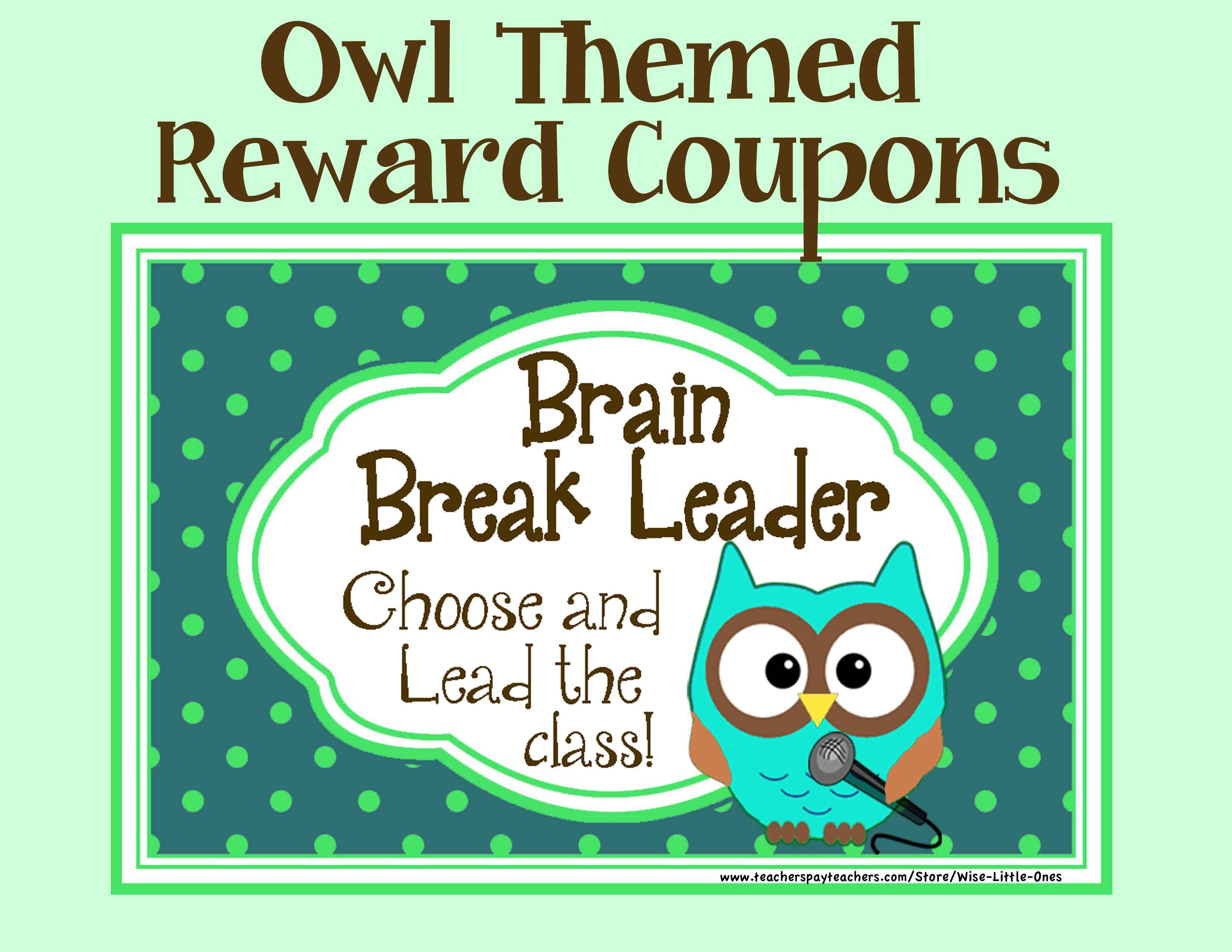 Owl Theme Reward Coupons 16 Rewards That By Wise