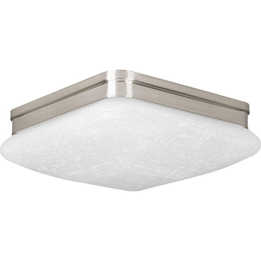 Progress Lighting Appeal In W Brushed Nickel LED Flush Mount - Damp rated bathroom light fixtures