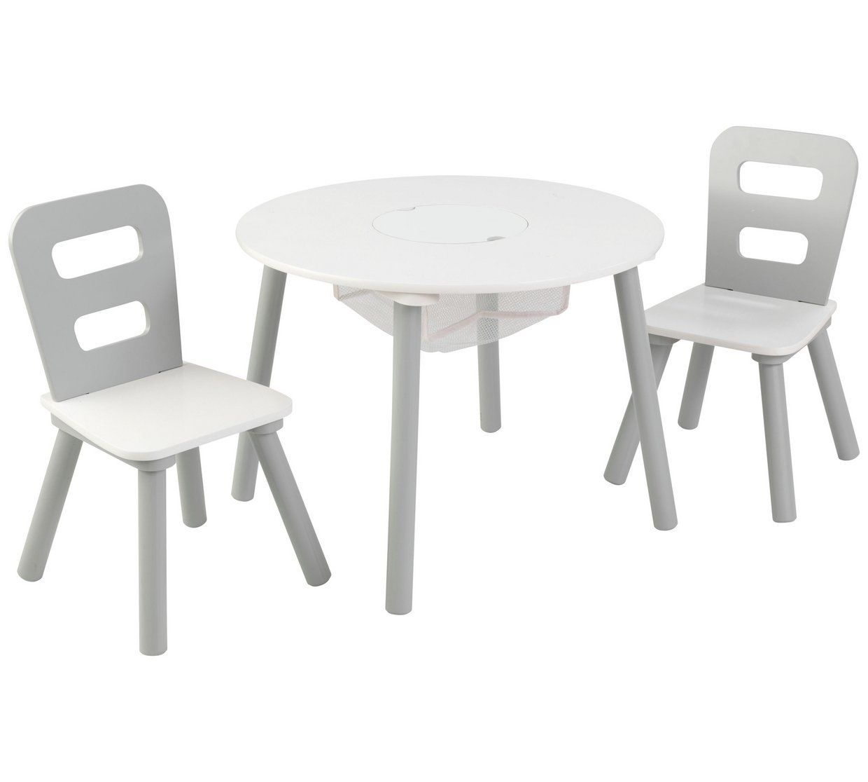 Buy Kidkraft Grey White Round Storage Table Chair Set Kids