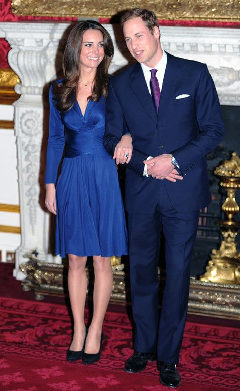 Robe bleue kate middleton