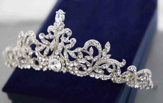 Silver Big Cristaux Mariage Brillant Diadème Couronne Bandeau UK