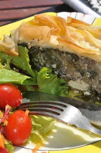 Spanakopita - a Phyllo Pastry Pie filled with spinach ...