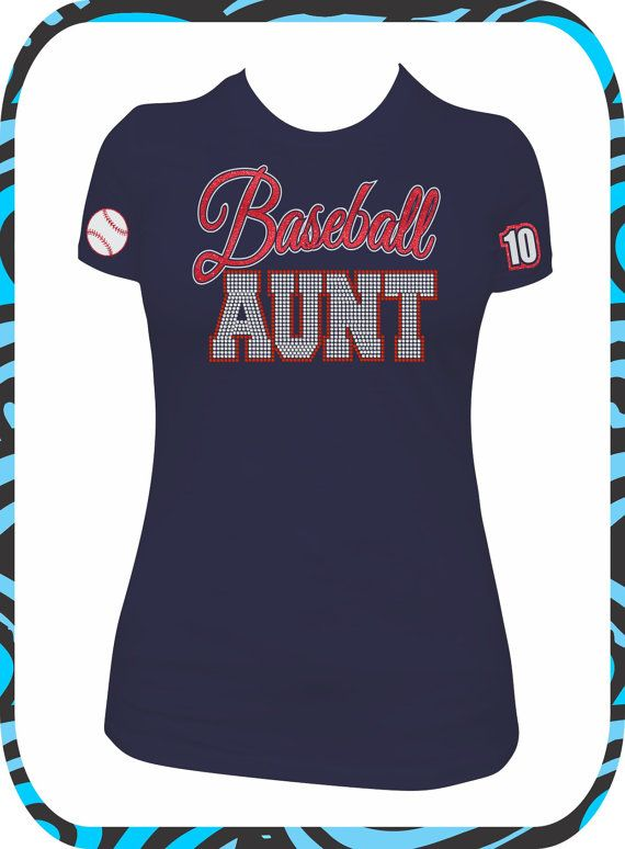 Baseball aunt custom shirt baseball aunt by Designer baseball shirts