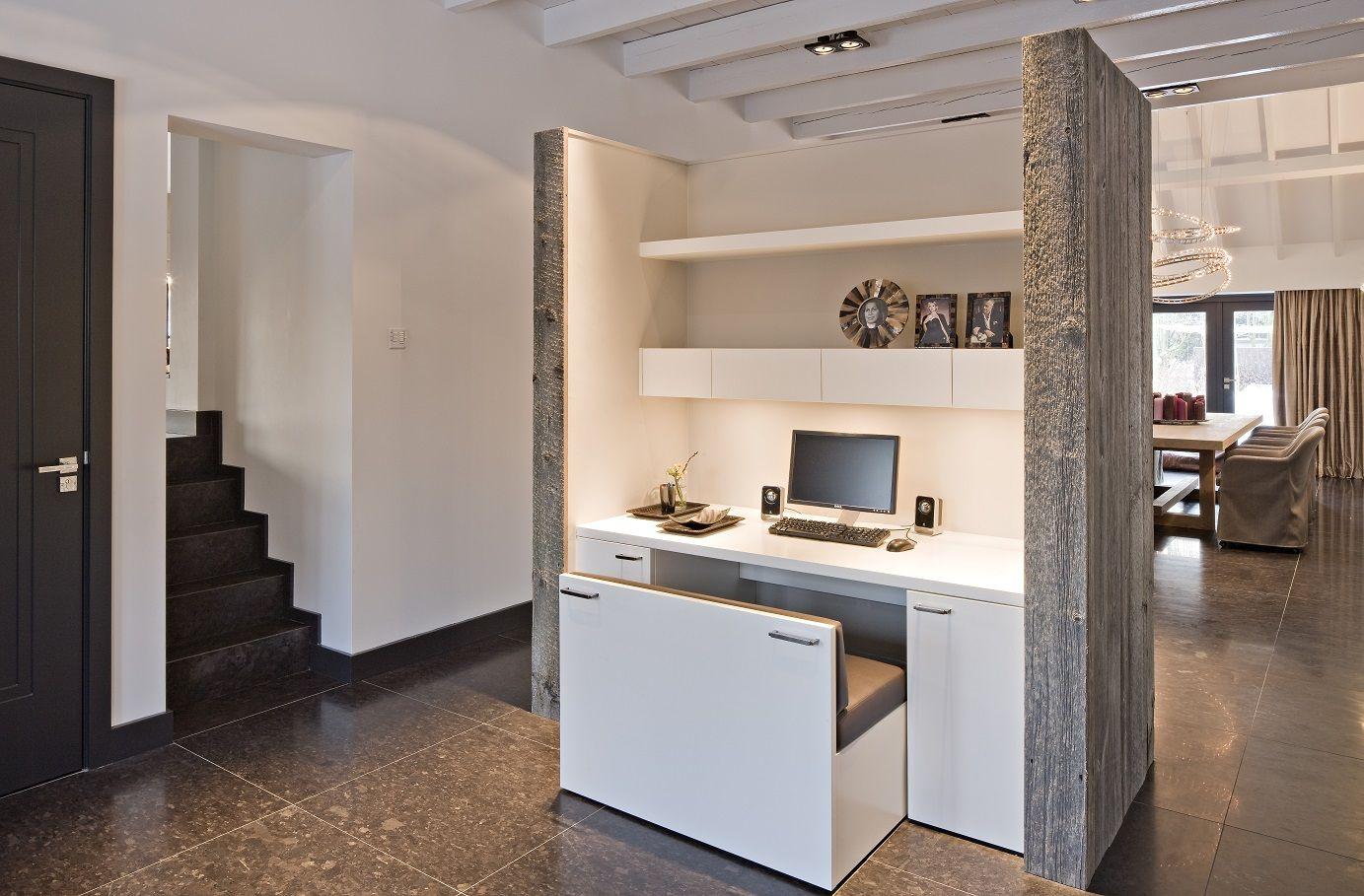 Computerhoekje strak landelijk pinterest for Landelijk modern interieur
