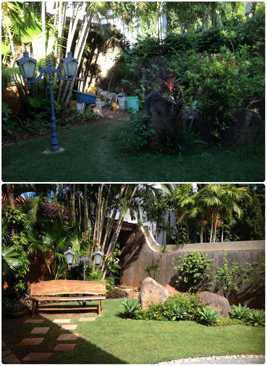 Jardim Antes E Depois Paisagismo Jardins Pequenos Jardim
