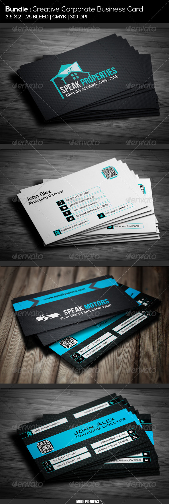 Bundle # Property & Motors Business Card