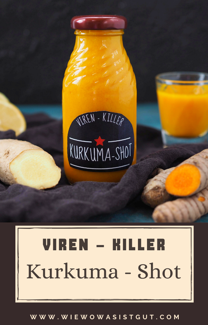 Viren-Killer: Kurkuma Shot #applecidervinegarbenefits