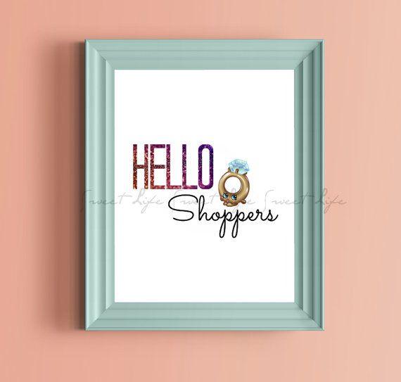 Shopkins Hello Shoppers PRINTABLE Digital Instand by SweetLifeInc