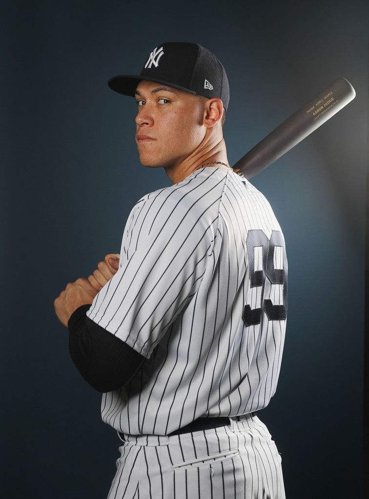 Aaron Judge Photos Photos New York Yankees Photo Day New York Yankees Stadium New York Yankees Yankees