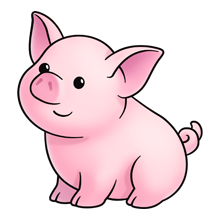 pig lots of clip art on this site paper anime kiawaii rh pinterest com piglet clipart black and white pink piglet clipart
