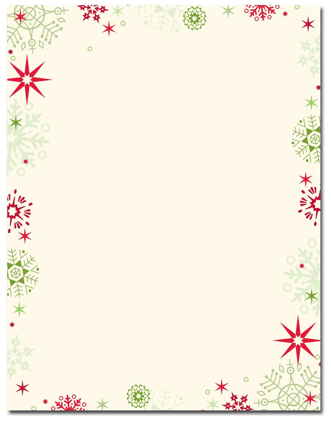 photo regarding Printable Christmas Stationery identify Pink Environmentally friendly Flakes Letterhead Family vacation Papers No cost