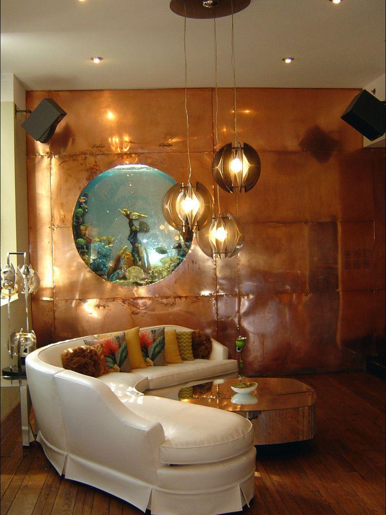 Pendant Fixtures Illuminate A Stunning Custom Aquarium Completed By Living  Art Aquatic Design. #luxeLA