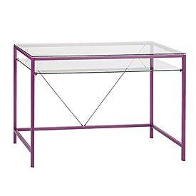 Violet Glass Desk Glass Desk Big Lots Household Essentials