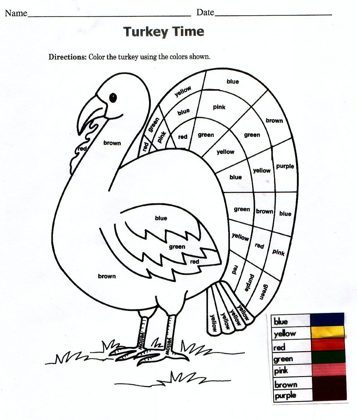 Simple Adaptation Of A Thanksgiving Worksheet