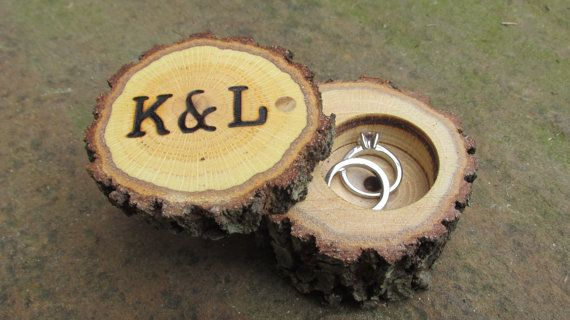 Rustic Wedding Ring Bearer Box By FeathersOfTheForest