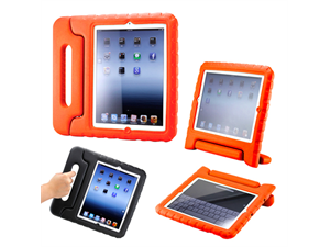 Gearonic Child-Safe Protective Foam Case Cover Handle Stand for iPad?(Orange)