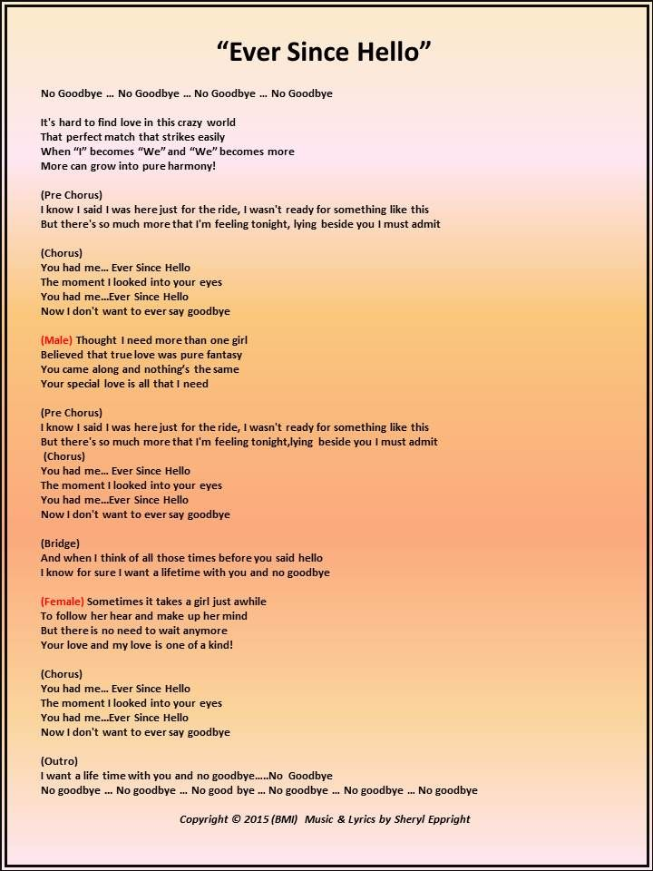 Lyrics With Images Lyrics Original Song Wordsmith