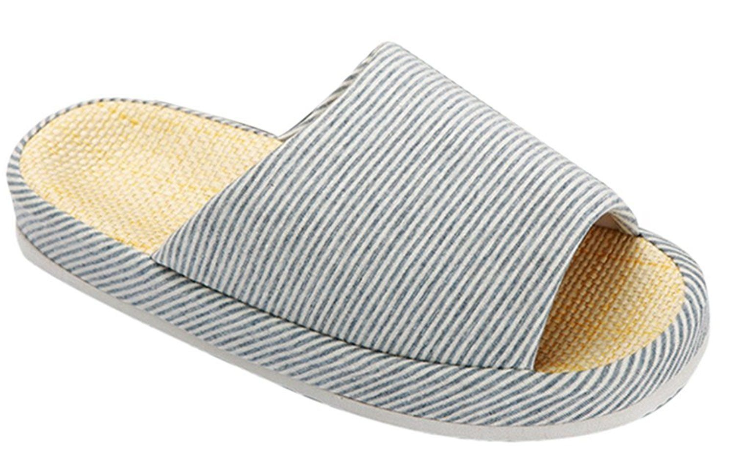 Bronze Times (TM) Unisex Classic Zebra Stripe Indoor Cotton Flax House Slippers -- Review more details here : Women's Shoes