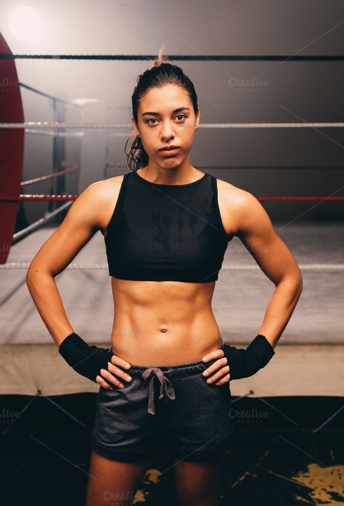 Confident Relaxed Female Boxer With A Toned Body By Jacob Lund Photography On Creativemarke