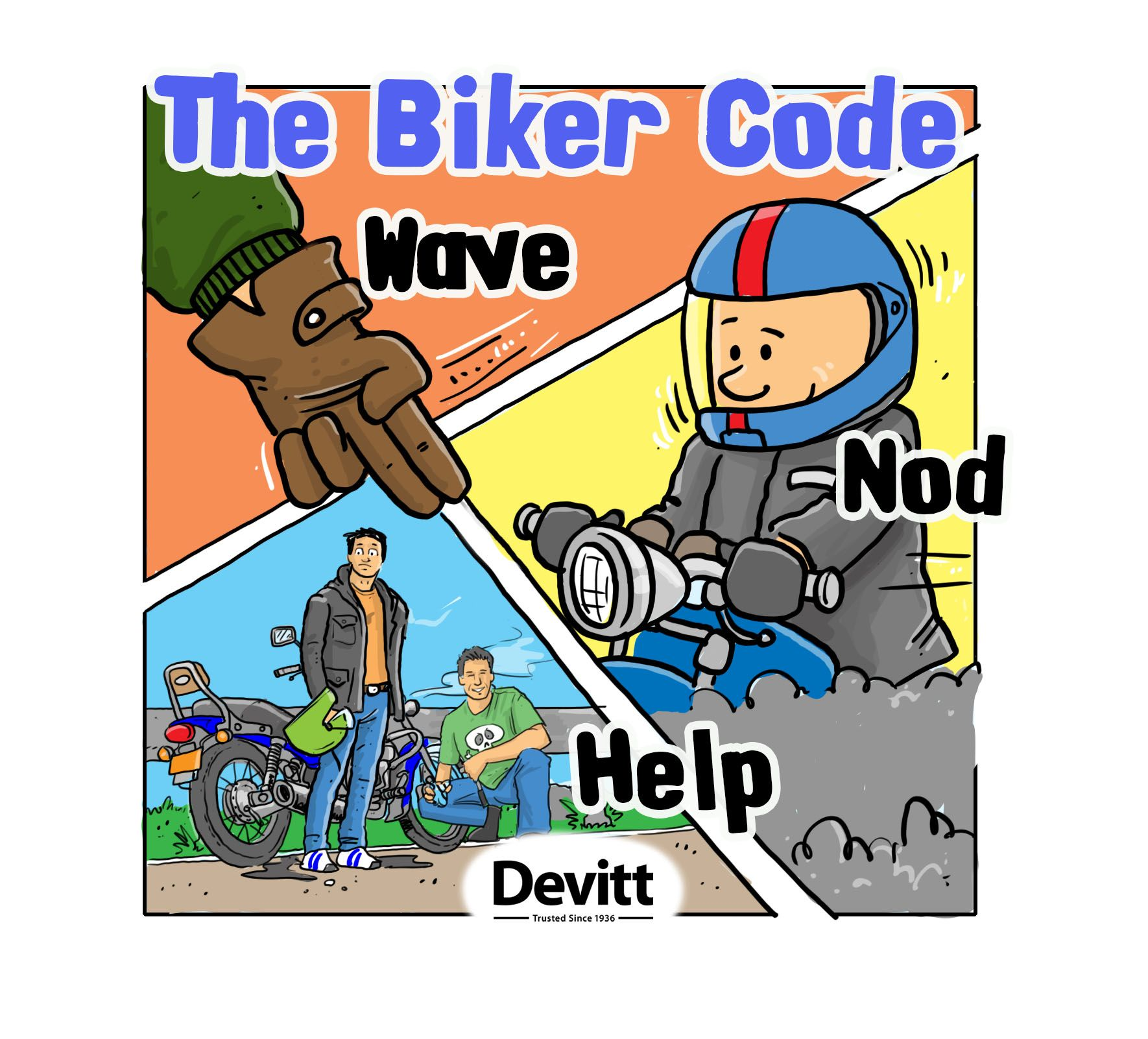 Exceptionnel Donu0027t Forget The Biker Code #wave #nod #help #respect