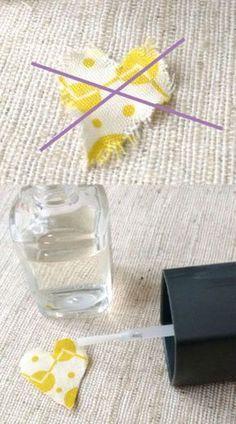Conseils de couture – Fixez les bords du tissu avec un vernis transparent   – nähen