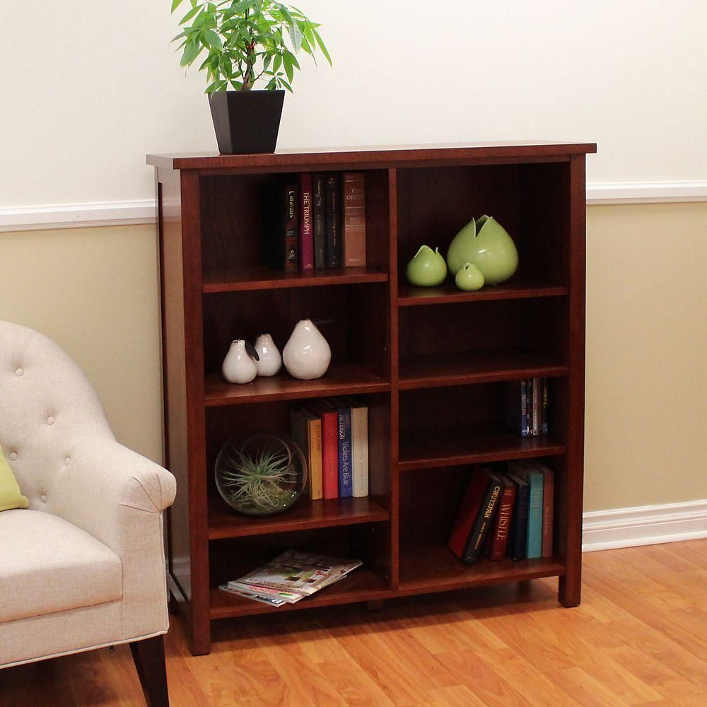 Donnieann 49 In Cherry Wood 8 Shelf Standard Bookcase With Adjustable Shelves 608922 Bookcase Cherry Bookcase Bookcases For Sale