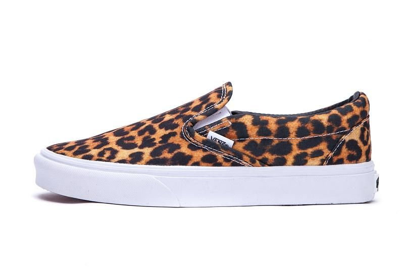 2f697c35e5 ... Off the Wall Skateboard Sneakers. Vans Leopard-Print Slip-On Classic  Black White Womens Shoes  Vans
